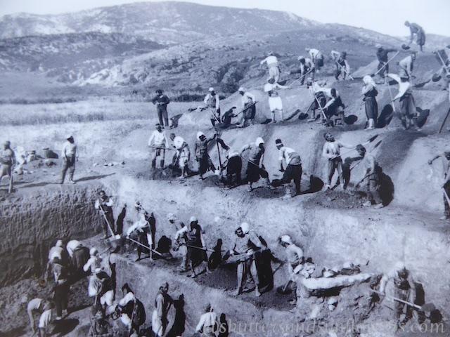 Early 19th century excavations of Ephesus,Turkey