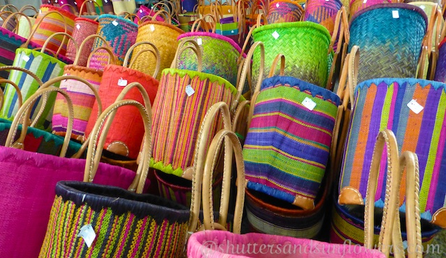 Baskets in the Uzes market