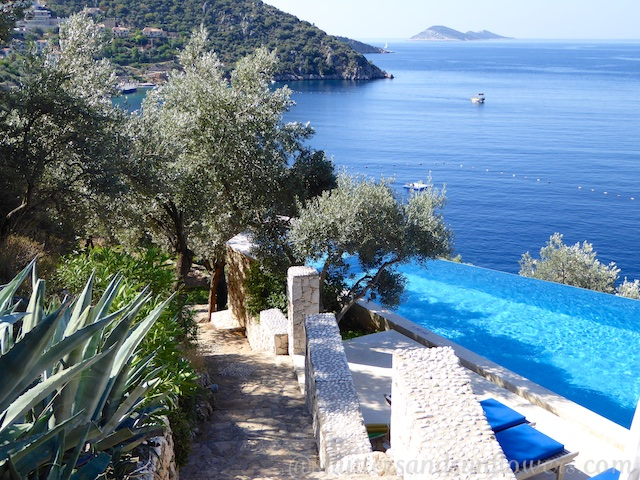 The pool at Villa Mahal, Kalkan,Turkey