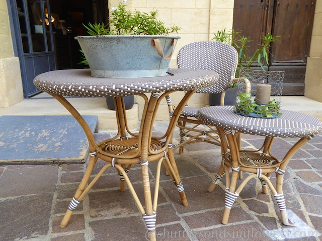 Provencal table and chairs