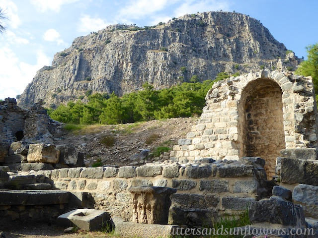 The Roman Baths at the Greek ruins of Priene, Turkey