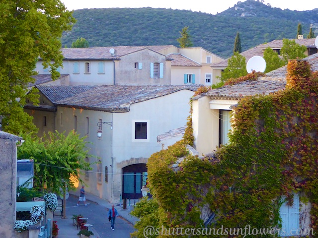 Roof top view in Lourmarin, Luberon Valley, Vaucluse, Provence, France