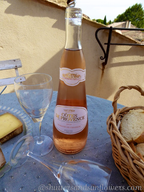 Rose wine Lourmarin in the Luberon Valley, Vaucluse, Provence, France