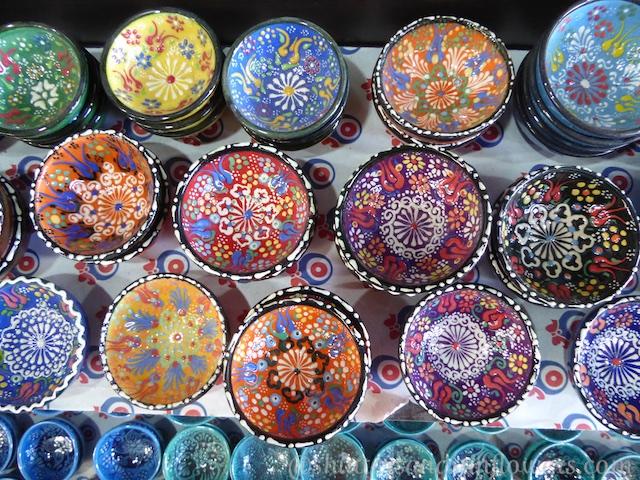 Turkish pottery in Sirince,Turkey