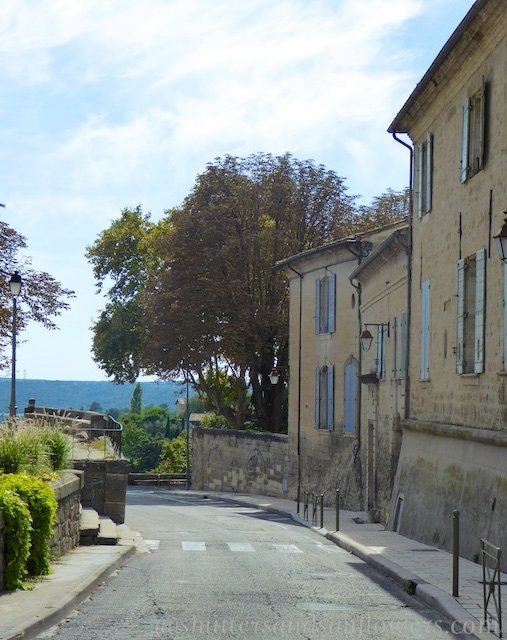 Driving through Uzes, Languedoc Roussillon, France