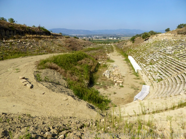 View down the stadium at the Stadium at Magnesia, Turkey