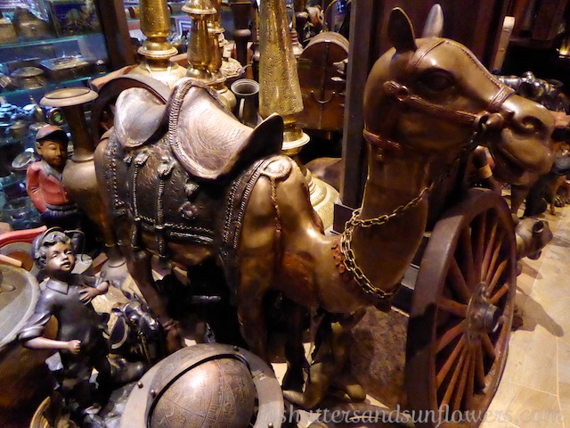 Antique camels for sale in the Souk Madinat, Jumeirah, Dubai