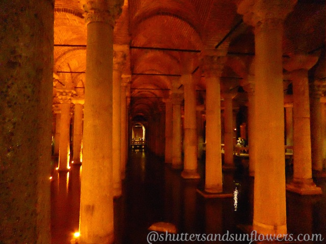 Columns of Yerebatan Cistern, Istabul, Turkey