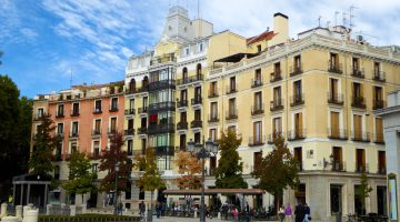 Plaza de Oriente architecture, Madrid, Spain