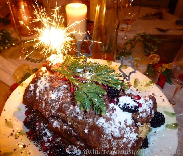 Christmas chocolate desert