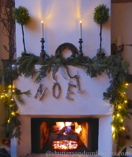 Christmas fireside garland