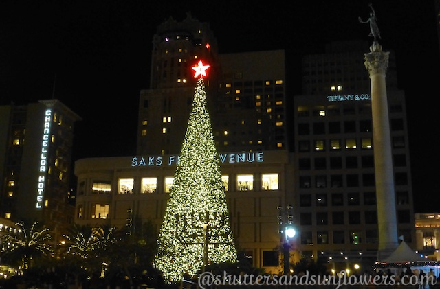 Christmas tree in Union Square, San Francisco, California