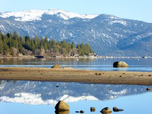 Sierra Mountain reflections in North Lake Tahoe