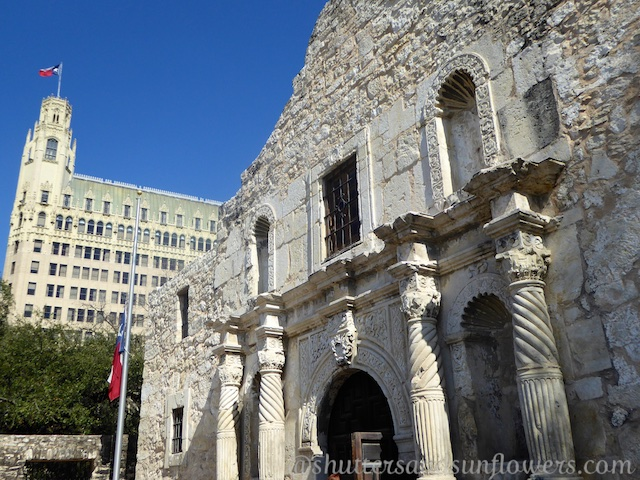Entrance to church at the Alamo, San Antonio,Texas