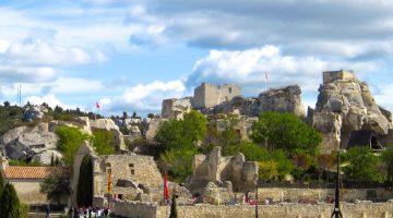 Chateau ruins at Les Baux-de-Provence
