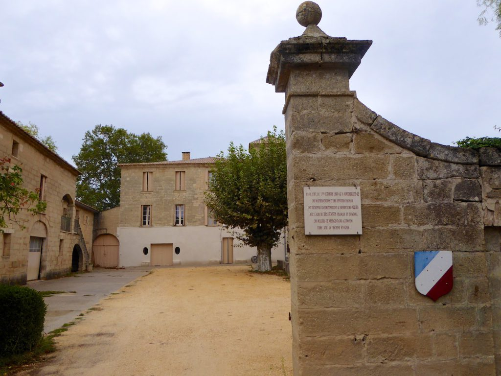 Entrance to Chateau Fouzes, Languedoc Roussillon, France