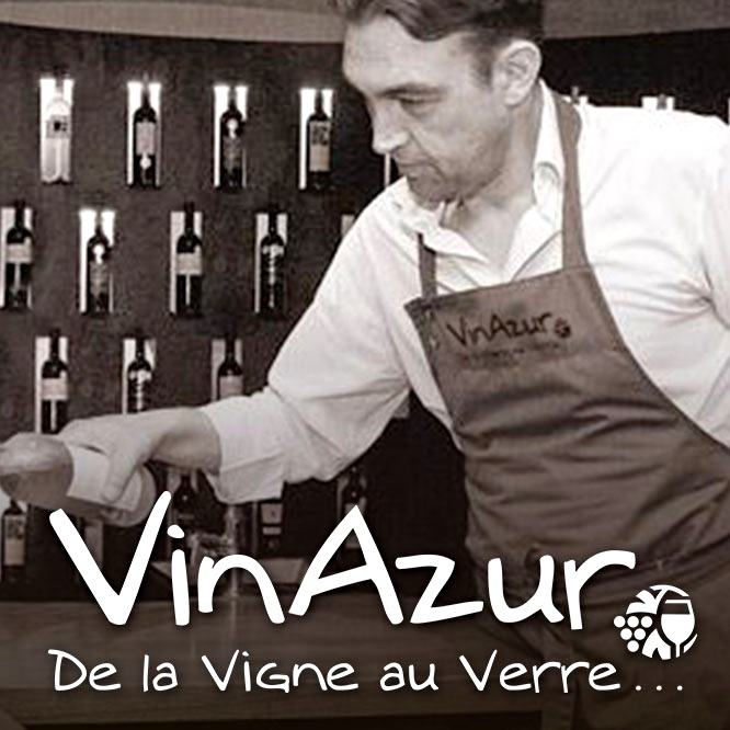 Damien Dubus, owner of VinAzur, boutique Provence, wine distributor in Nice, France