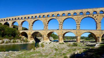 Pont du Gard, near Uzes, Langedoc Roussillon, France