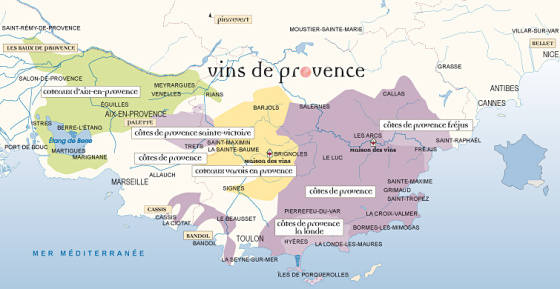 Map of Vins de Provence