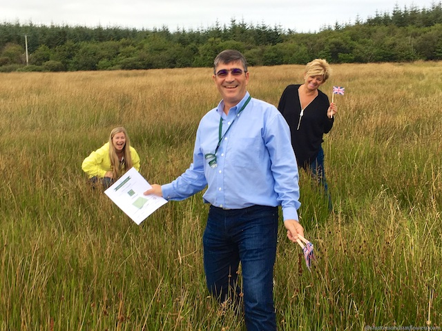 Finding our plot at Laphroaig, Islay, Scotland