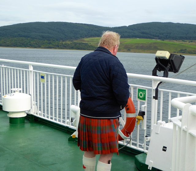 Scotsman on the Islay Ferry
