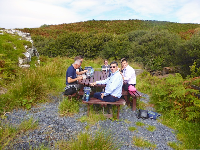 Picnic by the Laphroaig water source