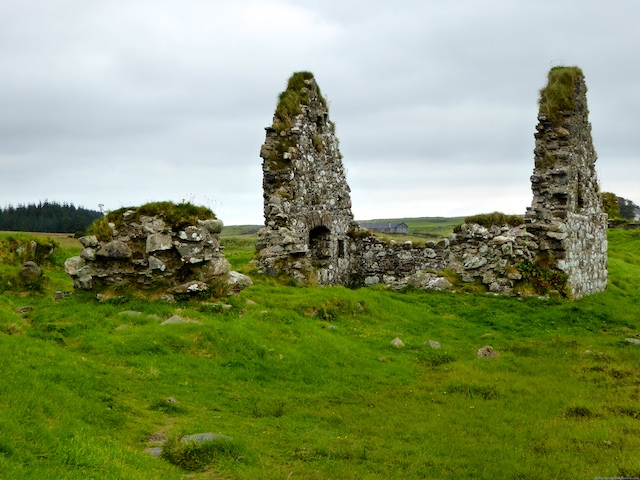 Ruins of the Great Hall on Finlaggan, Islay, Scotland