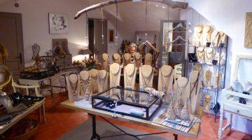 Mizso artisan jewelry shop, Lourmarin, Luberon, Vaucluse, Provence, France
