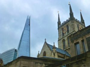 The Shard by Southwark Cathedral, London