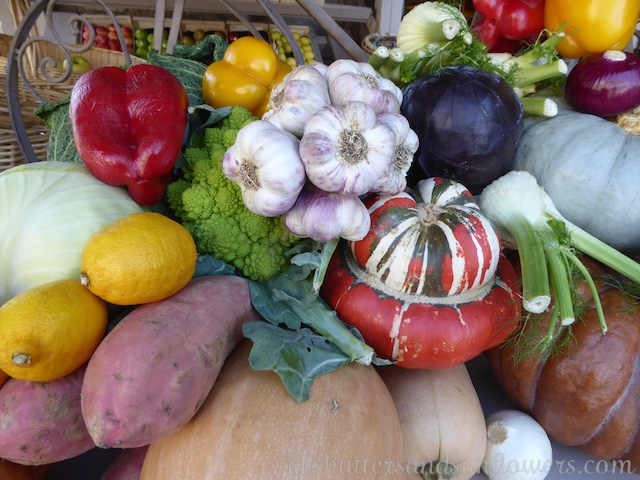Vegetables in Lourmarin's Friday market, Luberon, Vaucluse, Provence, France
