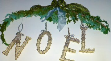 Noel wreath, the magic of Christmas