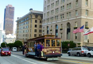 Cable Car on California Street, San Francisco, California