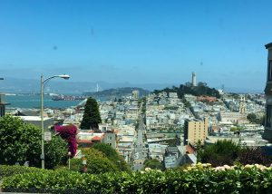 On Lombard Street, San Francisco