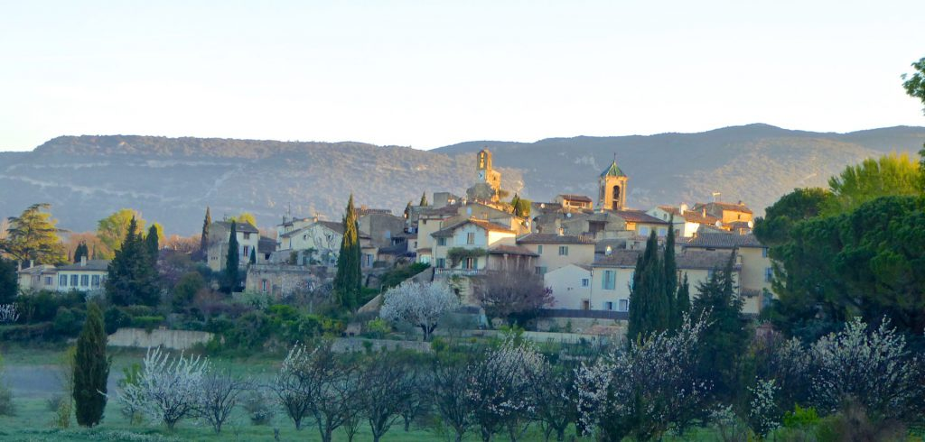 Early morning view of Lourmarin village, Luberon, Provence, France