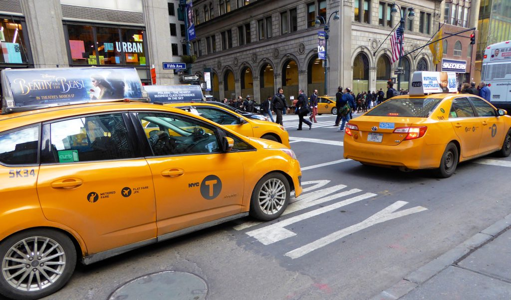 Taxis in Manhattan, New York, New York