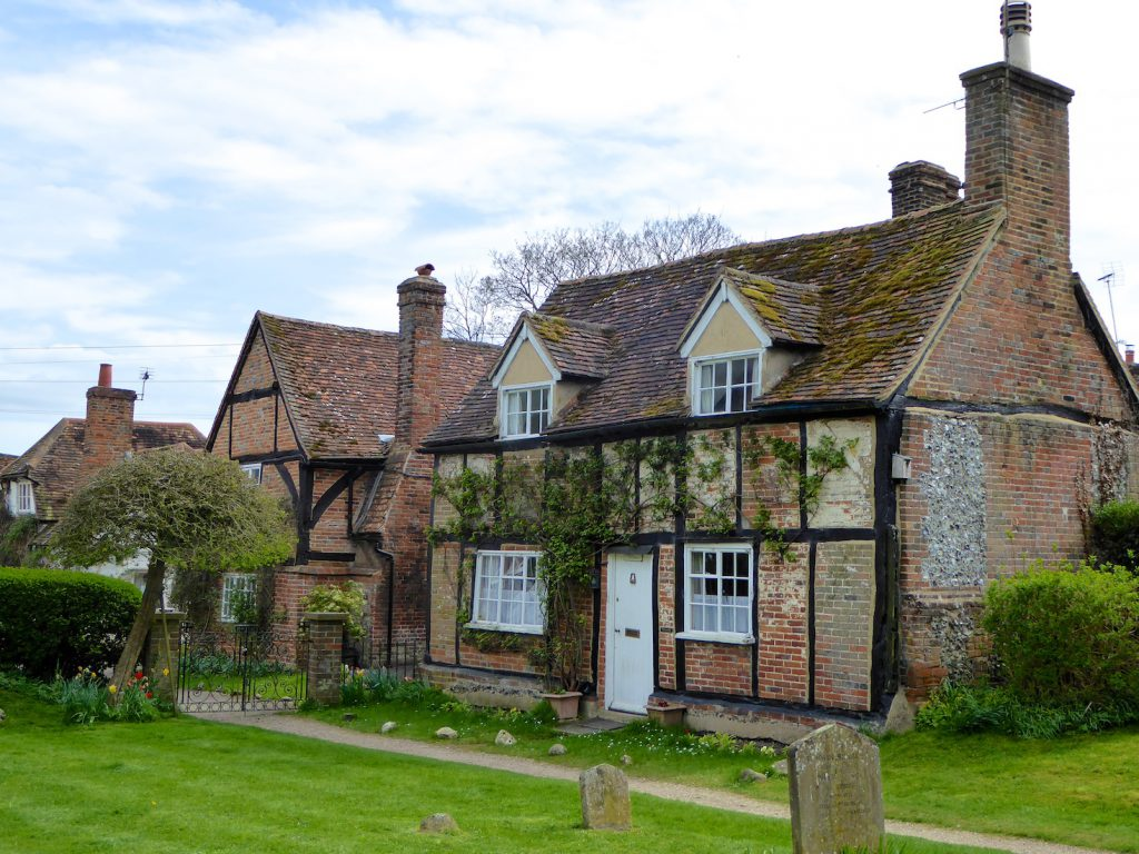 Springtime in England,The Church House, Turville