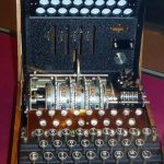 A World War II Enigma Machine, first cracked by the Poles in 1932