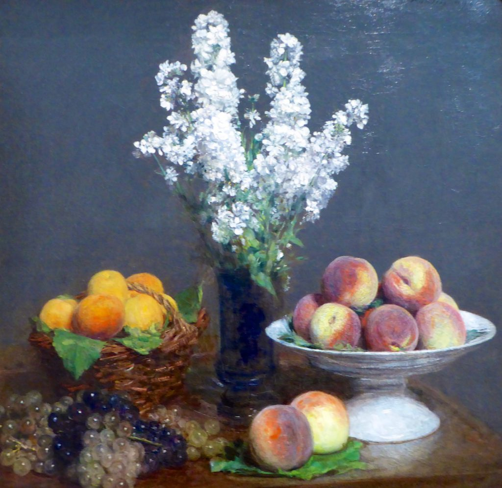 Henri Fantin-Latour (French, 1836-1904) White Rockets & Fruit 1869 at the Legion of Honor, San Francisco
