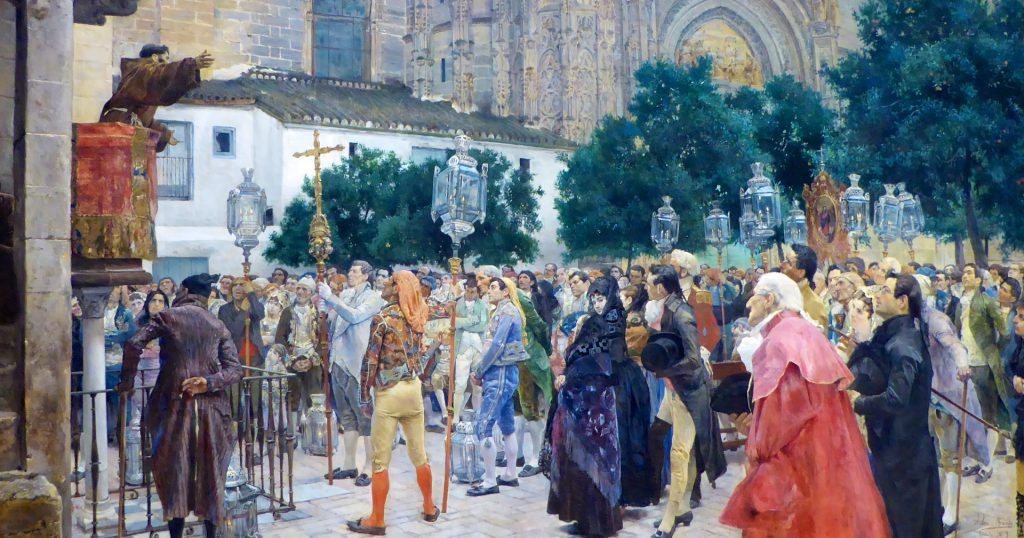 Jose Jimenez y Aranda's 'Holy Week in Seville' 1879 at the Legion of Honor San Franciso
