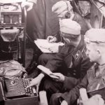 The Nazis using Enigma, first craked by the Poles in 1932