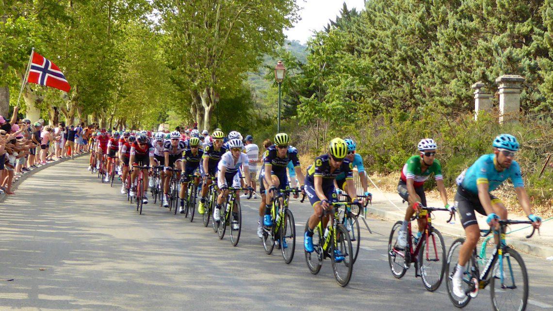 Tour de France 2017 entering Lourmrarin