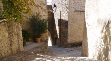 Cobbled street in Grambois, Luberon, Provence