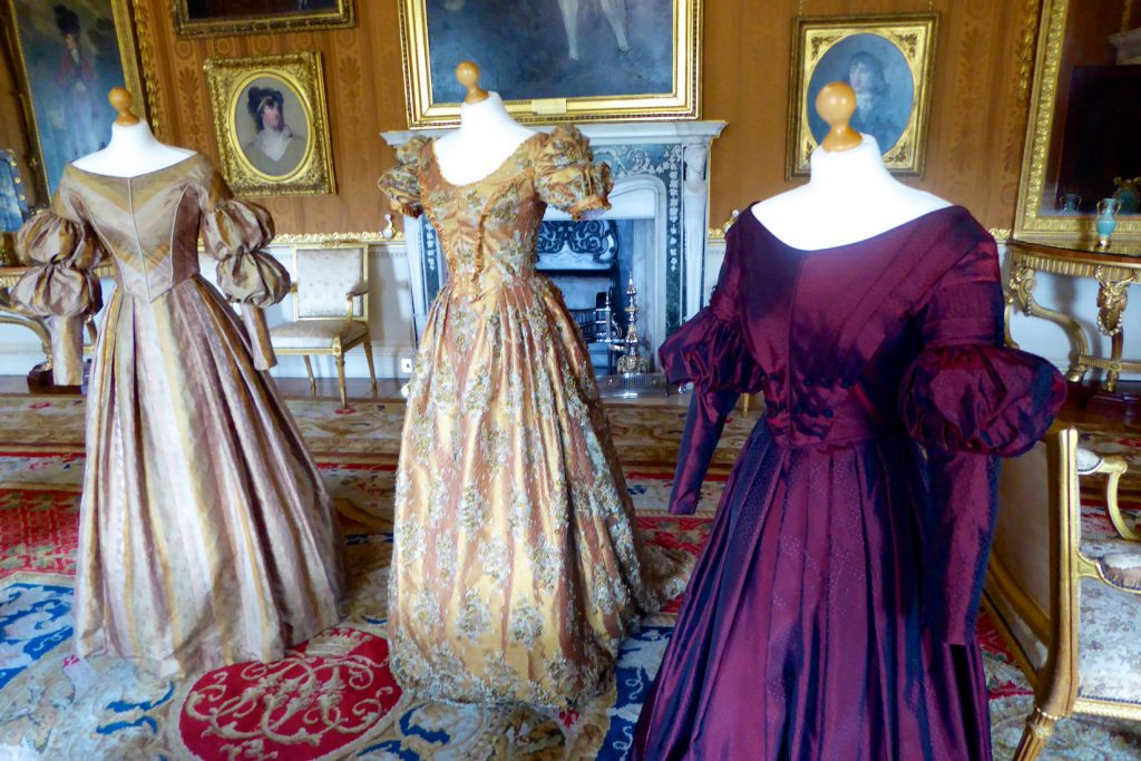 Costumes from ITV's 'Victoria' at Harewood House, Yorkshire