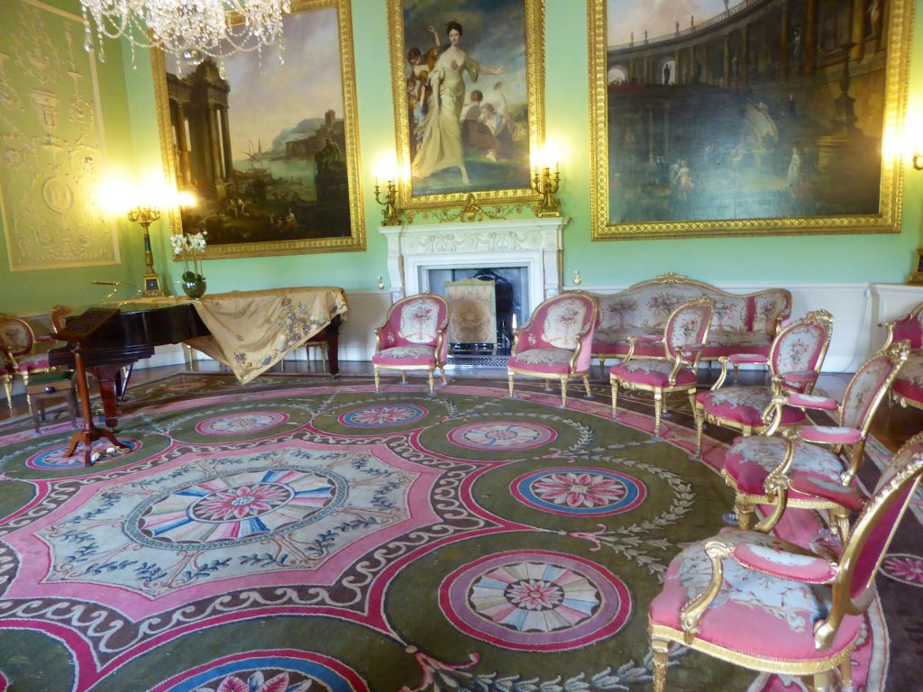 Music room at Harewood House, Yorkshire, England