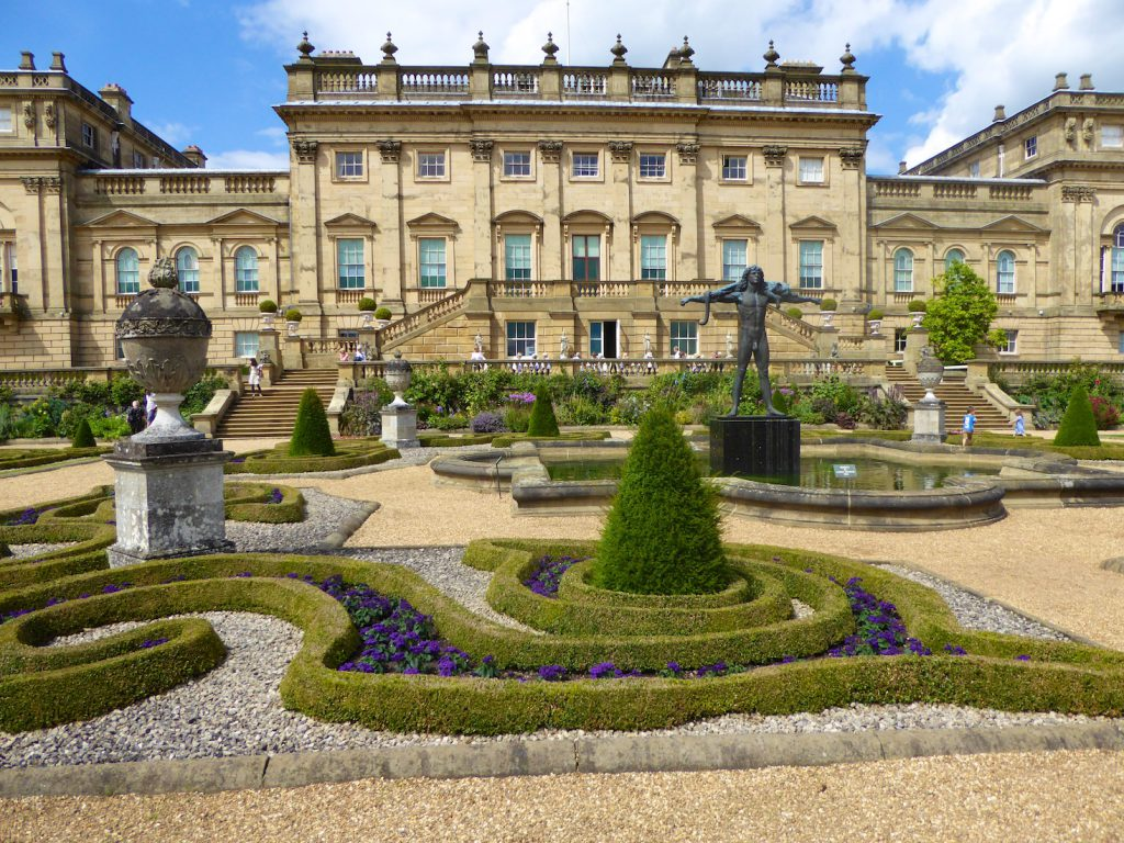 Rear view & the Terrace at Harewood House, Yorkshire, England