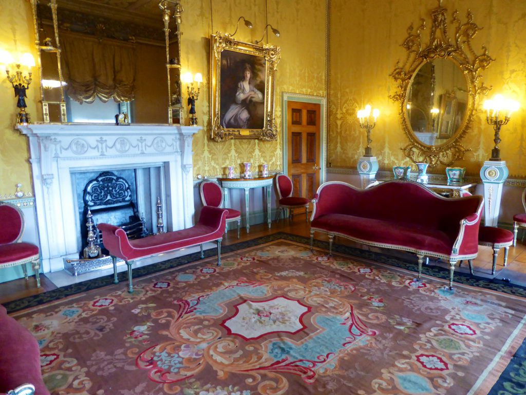 Reception room at Harewood House, used in VICTORIA