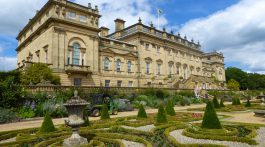The Rear & Terrace at Harewood House, Yorkshire, England