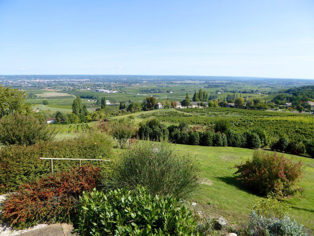 Views of Bergerac Valley from La Tour des Vents Restaurant, near Monbazillac
