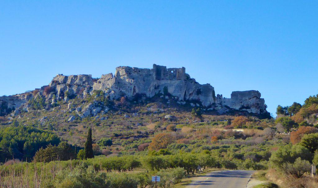 The road to Le Baux de Provence, Bouches-du-Rhône Provence
