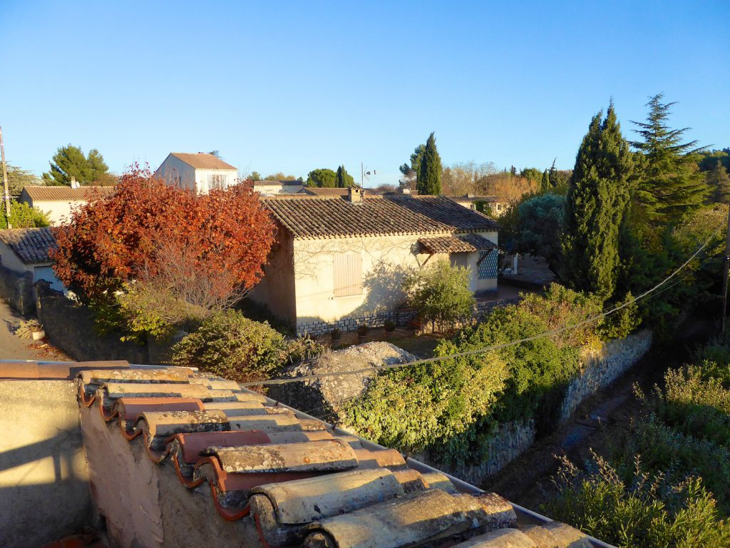 View from our terrace in Lourmarin, Luberon, Provence